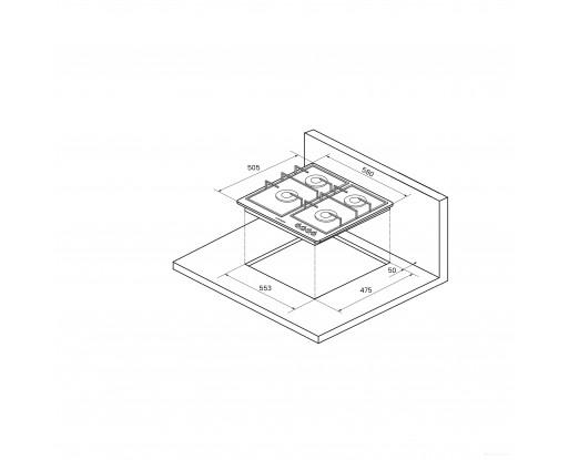 Поверхность газовая Kuppersberg FV6TGRZ W Silver