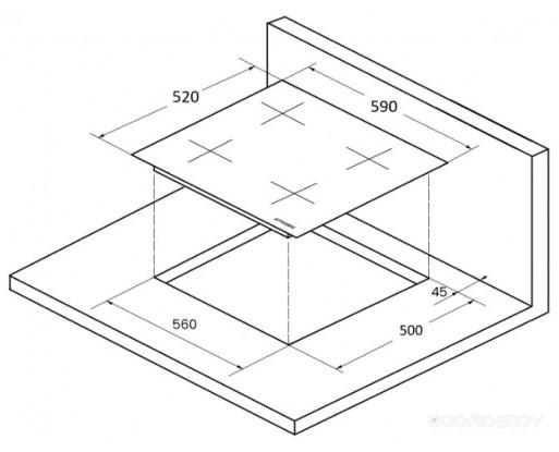 Поверхность индукционная Kuppersberg ICS 604 W