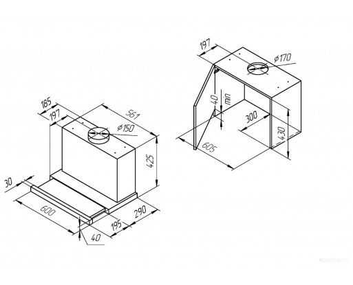 Вытяжка Kuppersberg SLIMBOX 60 GW